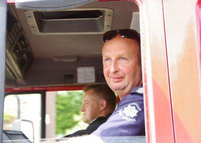 Wickhambrook Fire Brigade in Carnival Parade